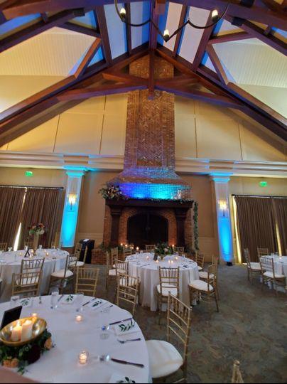 Fireplace Wedding Lighting