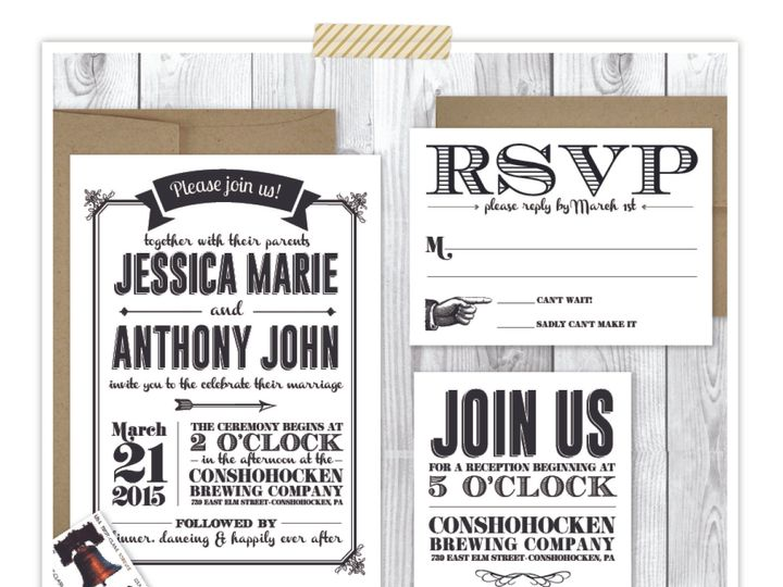 Tmx 1432056149983 Brewpub Philadelphia wedding invitation