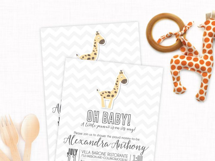 Tmx 1433434536279 Babygiraffe Philadelphia wedding invitation