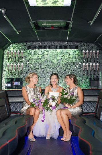 Girls in the limo