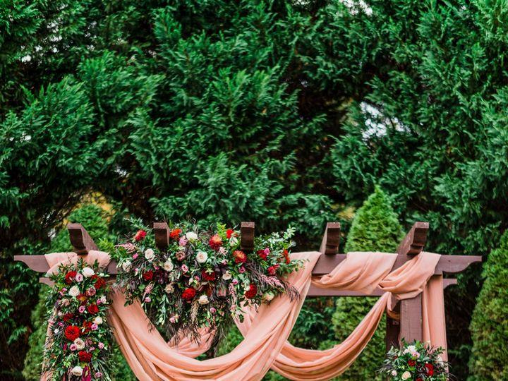 Tmx 1514988991 7046a284fa9aa29b Couple At Pergola Holly Springs, North Carolina wedding florist