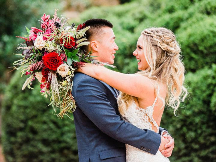 Tmx 1514989403563 Bride And Groom Smiles Holly Springs, North Carolina wedding florist