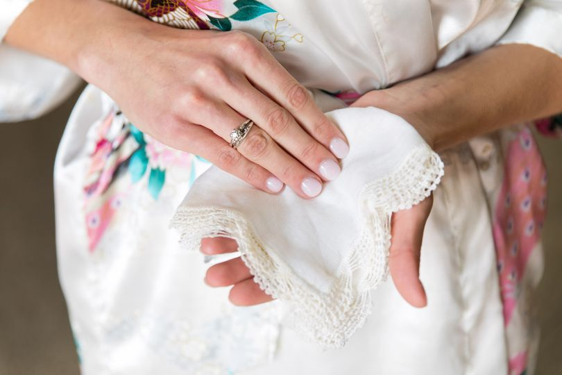 A bride's grandmother's gifts