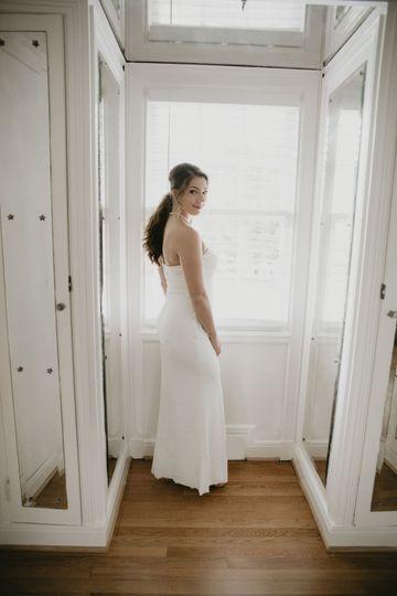 Bridal suite walk in closet