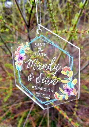 Acrylic Save-The-Date Ornament