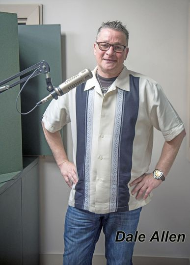 DJ Dale Allen at an FM radio station