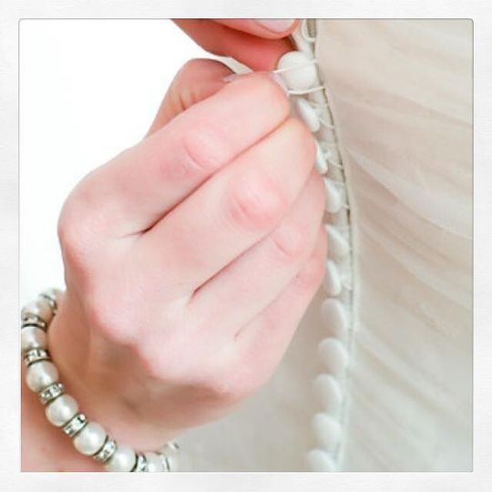 Classic pearl stretch bracelet (set, only 1 shown). Mother of the bride in this picture.