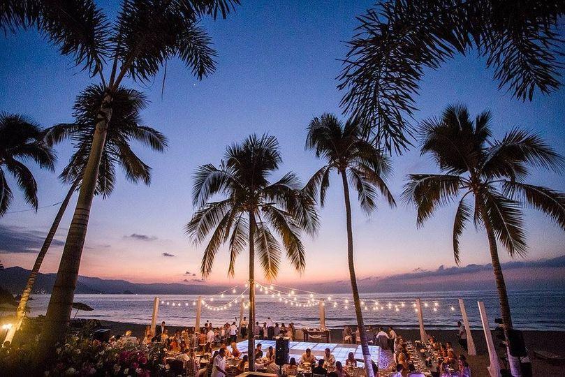 Sunset reception venue