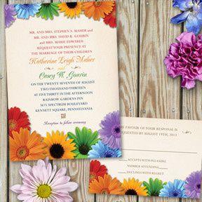 Tmx 1456270975810 Rainbowflowers East Brunswick wedding invitation