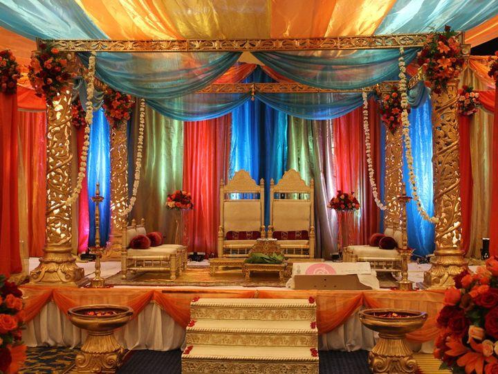 Tmx 1354516646380 Orangenprplefabricmandap Fairfax, District Of Columbia wedding eventproduction