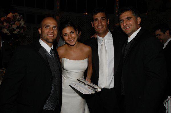 Owner Tommy Masino with MC Joe E. and Jamie Lynn Sigler