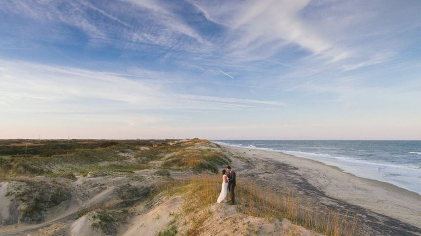 Blue skies and perfect waves to say I do