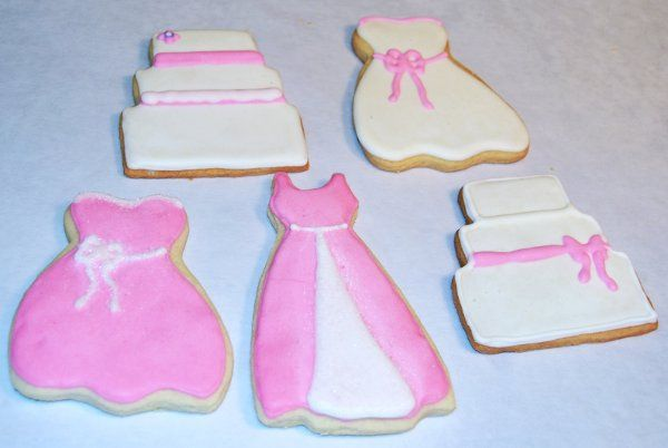 Bridal Gown Cookies