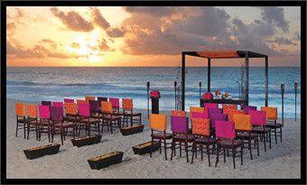 Hard Rock Hotel wedding setting