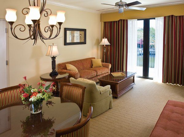We offer one bedroom and two bedroom suites with a full kitchen. living room and balconies...