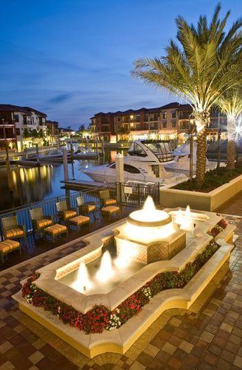 Beautiful Marina Backdrop at Naples Bay Resort and Marina