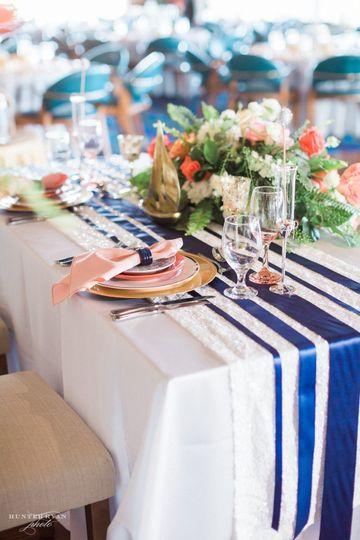 Elegant Table set up at Naples Bay Resort and Marina