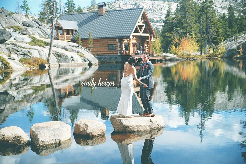 lake tahoe hideout lodge wedding by emily heizer