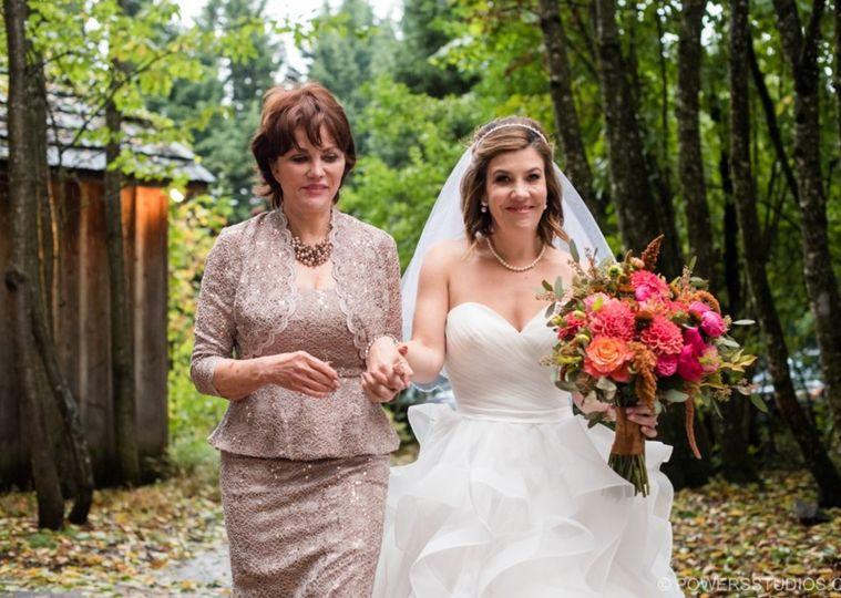 The bride with her mother