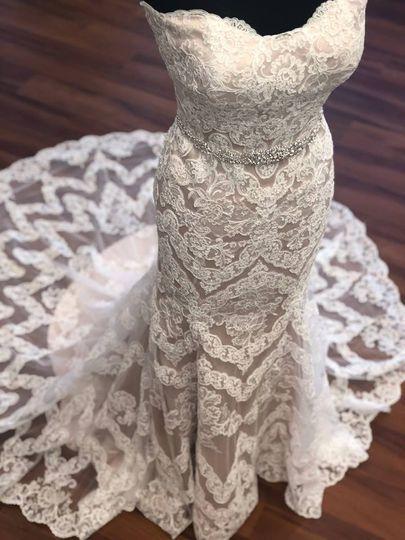 An abundance of lace