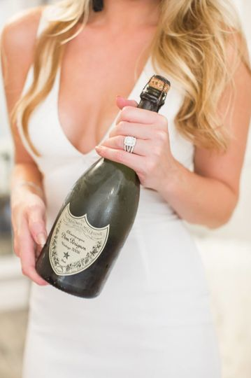 The champagne bottle | Compliments of Tori Shelstad photography
