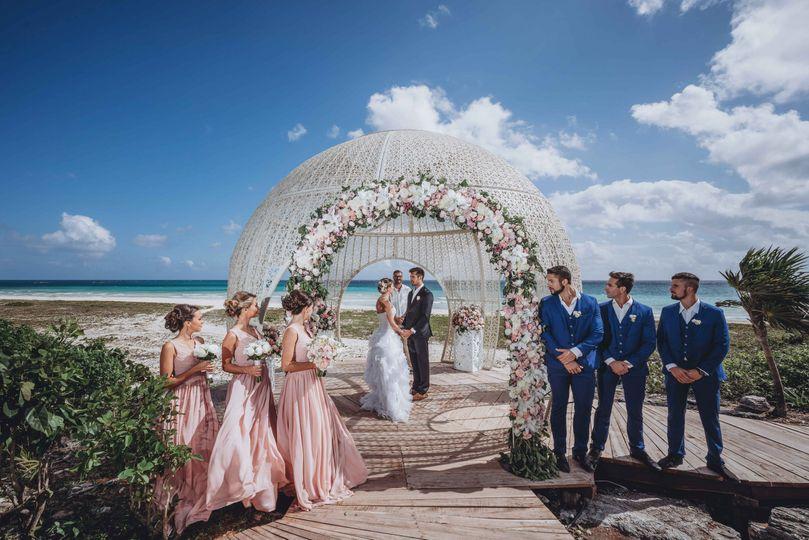 A beach ceremony