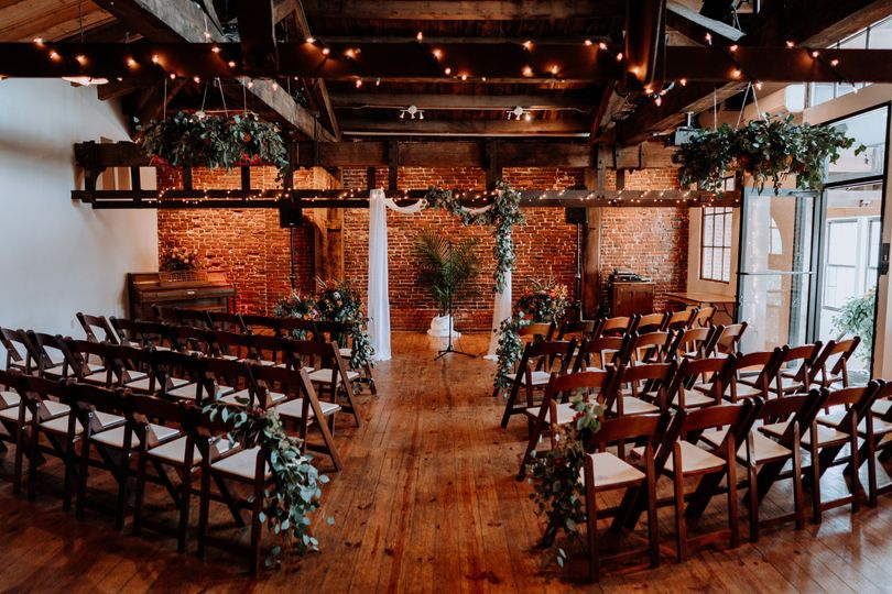 Rustic wedding space