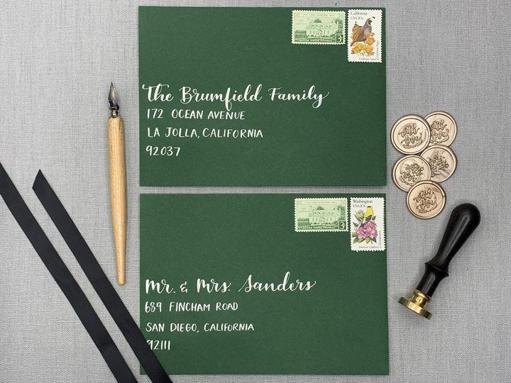 Dark green envelopes