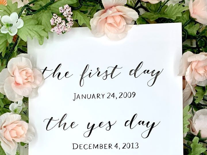Tmx First Day Yes Day Best Day Calligraphy Print Ac Letters Calligraphy 51 1971121 159277259683331 San Diego, CA wedding invitation