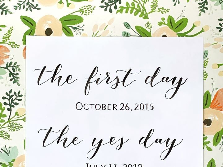 Tmx First Day Yes Day Best Day Calligraphy Sign Ac Letters Calligraphy 51 1971121 159277259616892 San Diego, CA wedding invitation