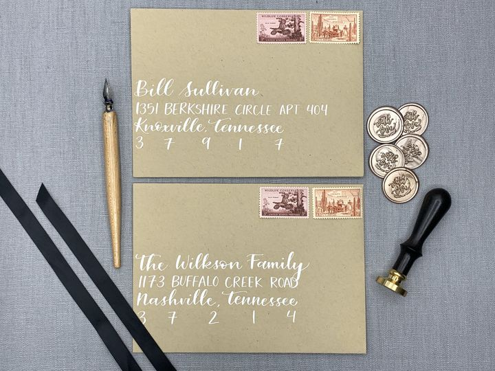 Tmx Rustic Wedding Envelopes Nashville Calligrapher Ac Letters Calligraphy 51 1971121 159519268077870 San Diego, CA wedding invitation