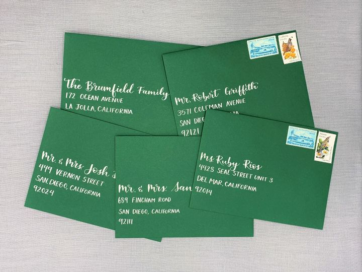 Tmx San Diego Wedding Envelope Calligraphy Ac Letters Calligraphy 51 1971121 159277304577579 San Diego, CA wedding invitation