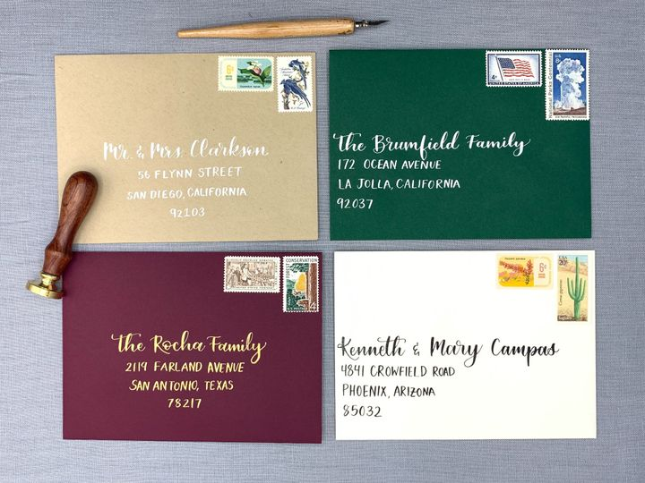 Tmx Wedding Envelopes Ac Letters Calligraphy 51 1971121 159184443587519 San Diego, CA wedding invitation