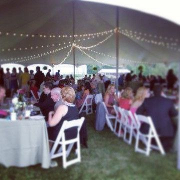 Tmx 1373033623664 Guests Under The Tent With Lighting Plain City wedding catering