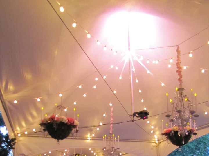 Tmx 1426628898597 Beautifully Lit And Draped Tent Plain City wedding catering