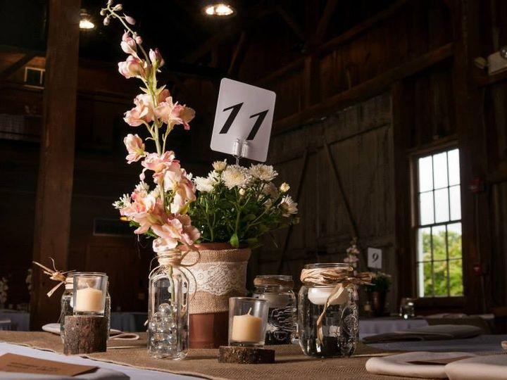 Tmx 1426629077528 Everal Barn Table Closeup Plain City wedding catering
