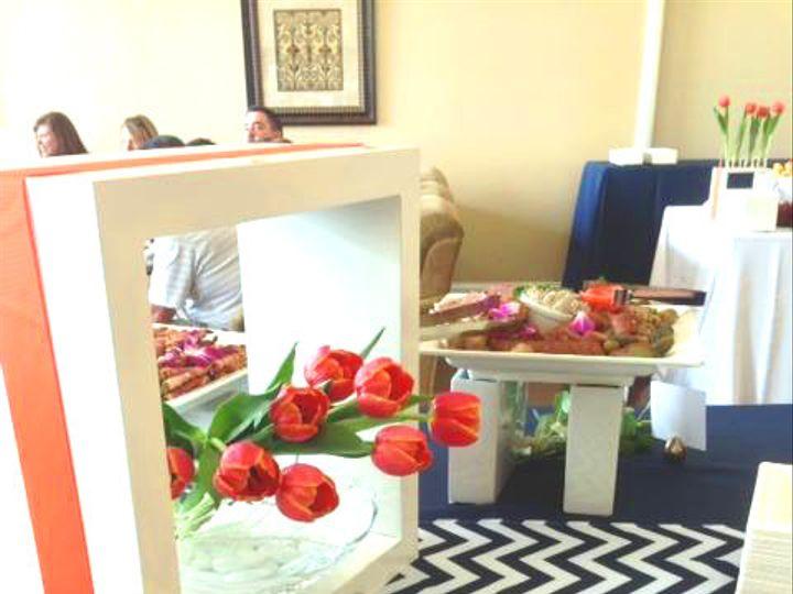 Tmx 1487782938774 Charcuterie On Buffet  Chevron And Tulips  Orange  Plain City wedding catering