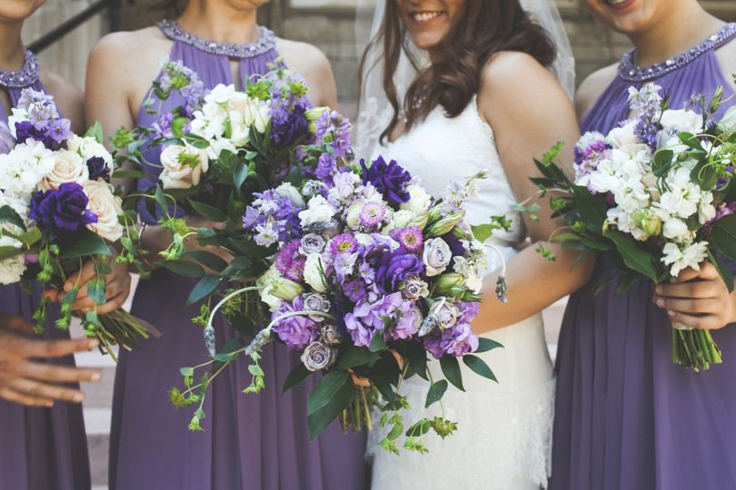 Wildflower Purple Bouquet at Lafayette Square Park