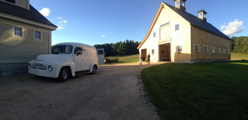 Parked by the barn