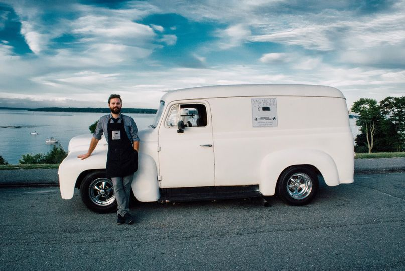 Barista and the coffee car