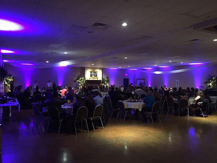 Violet reception uplighting