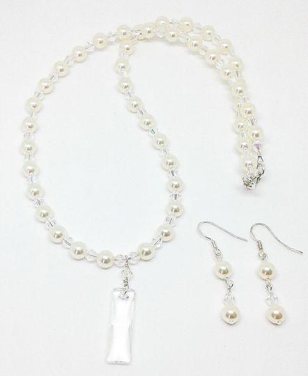 Latrice is designed with Swarovski crystal beads and  Swarovski crystal beads, this necklace and...