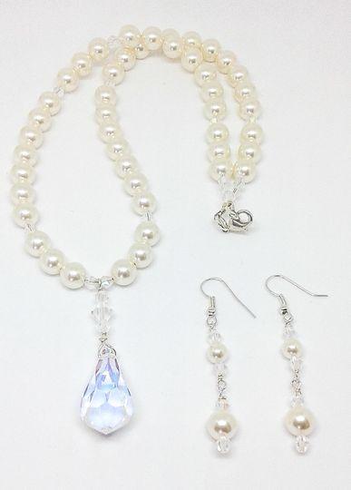 Renae is designed with Swarovski crystal beads and Swarovski crystal pearl beads, this necklace and...