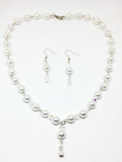 Althea is designed with Swarovski crystal beads and Swarovski crystal pearl beads, this necklace and...