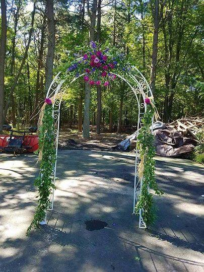 Leafy wedding arch