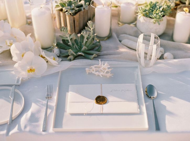 Shells theme wedding
