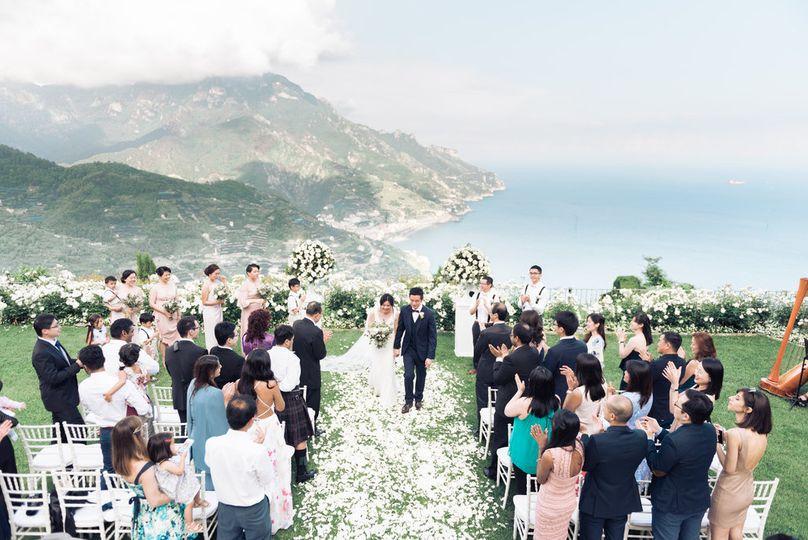 Symbolic ceremony in ravello