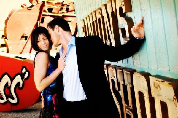 Vegas bone yard, neon museum, Corey and Carley, Fun E-session, andrews photography, rod wilson, fun...