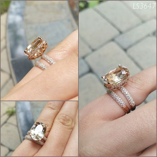 This is yet another gorgeous morganite engagement ring, from yours truly!