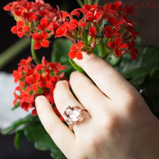 """An elegant morganite engagement ring is a timeless way to say """"I love you.""""  See full details here:..."""